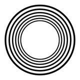 Koncentriska cirklar, koncentriska cirklar Abstrakta radiella diagram stock illustrationer