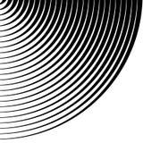 Koncentriska cirklar, cirkelmodell Cirkelbakgrundsmodell stock illustrationer