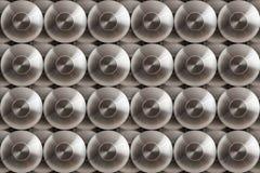 Koncentriska cirklar för metall Arkivbild
