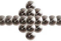 Koncentriska cirklar för metall Arkivfoton