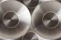 Koncentriska cirklar för metall Royaltyfria Foton