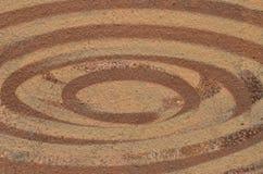 Koncentriska ellipser för brun målarfärg Royaltyfri Foto