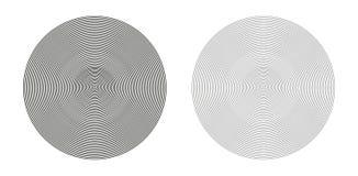 Koncentriska geometriska cirklar Arkivfoton