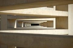Koncentriska rektanglar i spiral abstrakt arkitekturbakgrund Royaltyfria Bilder