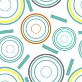 Koncentriskt cirklar seamless mönstrar Arkivfoto