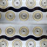 Koncentriskt stål cirklar bakgrund royaltyfri foto