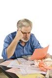 Koncentrować Na podatkach zdjęcie stock