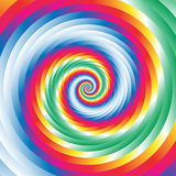 Koncentrycznej kolorowej spirali w przypadkowi okręgi Abstrakcjonistyczna kurenda p ilustracji