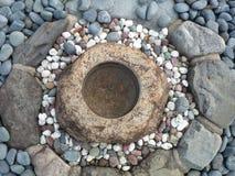 Koncentryczni kamieni okręgi Obrazy Royalty Free