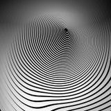 Koncentryczni kształty z deformacja skutkiem Abstrakcjonistyczny grayscale gr ilustracji