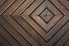Koncentryczni kwadraty rzeźbiący w drewnianych deskach Zdjęcie Stock