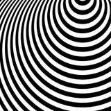 Koncentryczni okręgi, owale Promieniowy, promieniujący okręgu wzór Ri ilustracji