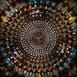 Koncentryczny abstrakta pierścionku wzór koraliki fotografia stock