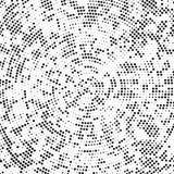 Koncentryczny kropkowany czarny tło ilustracja wektor