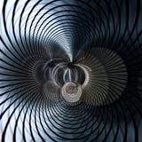 Koncentryczny Kruszcowy abstrakt ilustracji