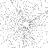 Koncentryczny kurenda wzór Przypadkowy wybuch, promieniujący, promieniowy ele ilustracja wektor