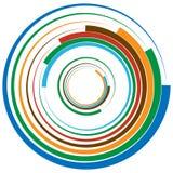 Koncentryczny okrąg, pierścionki Stosowny jako abstrakcjonistyczny projekta element royalty ilustracja