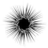 Koncentryczny promieniowy element Promieniować abstrakcjonistycznego geometrycznego element royalty ilustracja