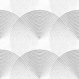 Koncentrycznych okregów monochromu bezszwowy wzór Abstrakcjonistyczny geometr ilustracji