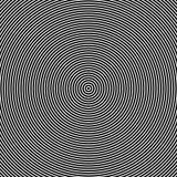 Koncentrycznych okregów okulistyczny skutek ilustracja wektor