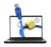 koncepcja bezpieczeństwa internetu Zdjęcie Royalty Free