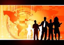 koncepcja biznesowej pomarańcze Fotografia Stock