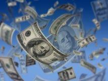 koncepcja dolarów latają Zdjęcie Royalty Free
