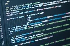 koncepcja dziewczyny laptopa technologii informacji cyfrowej świecący tunelu Kodować pismo tekst na ekranie Fotografia Royalty Free