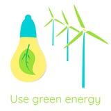 koncepcja ekologicznego Używa zieloną energię Obraz Stock