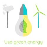 koncepcja ekologicznego Używa zieloną energię Fotografia Stock