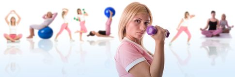 koncepcja fitness Fotografia Stock