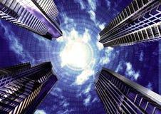 koncepcja futurystyczny interes Obraz Stock