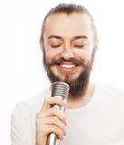 koncepcja go żywego muzyka wściekłość piosenkarz mikrofonu Zdjęcie Stock