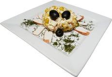 koncepcja jedzenie krabów Zdjęcia Royalty Free