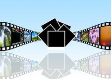 koncepcja kinematograficznej branży filmowej roll Zdjęcie Royalty Free
