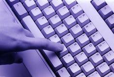 koncepcja komputerowy wchodzi interrrogation kluczowe pytanie klawiaturowy otrzymuje żółty Fotografia Royalty Free