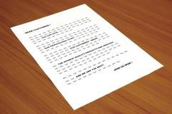 koncepcja listu marketingowa blah zdjęcie fotografia stock
