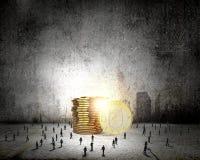 koncepcja nieruchomości prawdziwe odbicie domu pieniądze Zdjęcie Royalty Free