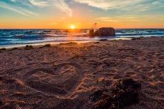 koncepcja plażowa pary rąk miłości Zdjęcie Stock
