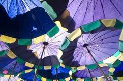 koncepcja plażowy wakacje parasolkę Obraz Royalty Free