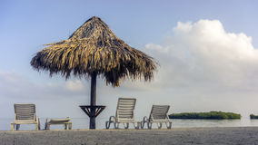 koncepcja plażowy wakacje parasolkę Fotografia Stock