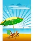 koncepcja plażowy wakacje parasolkę Zdjęcia Stock