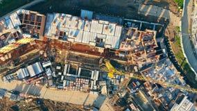 koncepcja real nieruchomości Budowa bezpośrednio od above zdjęcie wideo