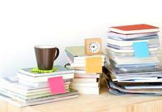 koncepcja uczenia się księgowej sterta Zdjęcie Royalty Free
