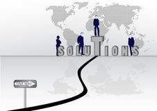 koncepcji rozwiązania Zdjęcia Stock