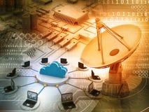 koncepcji technologii informatycznych sieci szeroki świat ilustracji