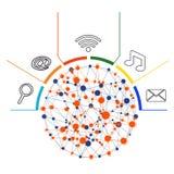 Koncept de technologie Images libres de droits