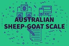 Konceptualna biznesowa ilustracja z słowo australijczyka caklami royalty ilustracja