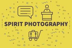 Konceptualna biznesowa ilustracja z słowo ducha photograp royalty ilustracja
