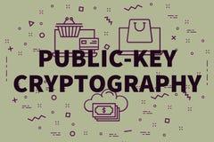 Konceptualna biznesowa ilustracja z słowo klucza crypt ilustracji